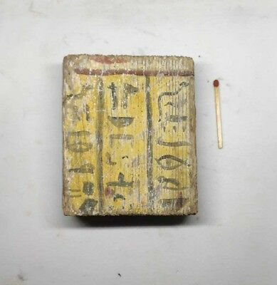 rare ANTIQUE EGYPTIAN WOOD PANEL With hieroglyphics Part of mummy sarcophagus
