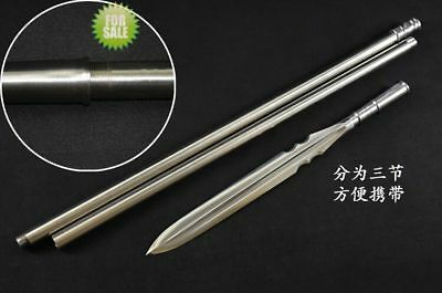 HUNTING FIGHTING SPEAR Dagger Very Sharp High Manganese Steel Spearhead  Blade Lo