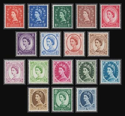 GB 1958 Wilding Stamps Set~(17) Multiple Crowns Ord~Unmounted Mint~UK Seller