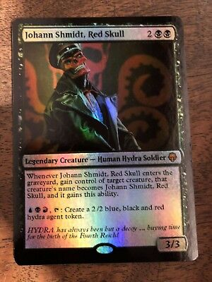 Red Skull Marvel Magic The Gathering MTG card Planeswalker Stan Lee