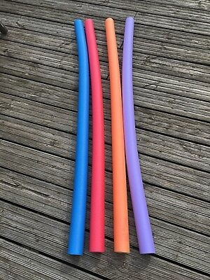 Swimming Pool Noodles 160 cm long in four colours. Slightly Marked/Dented