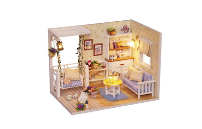 Doll-House-Miniature-DIY-Room-With-Furniture-1-24-scale-free-shipping-Happy 2019