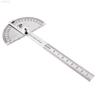 9BE0 Stainless Steel Rotary Protractor Angle Finder Rule Measure Gauge Tool Kit