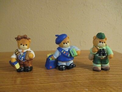 LUCY RIGG - LUCY AND ME BEARS - Scout Grouping (3) Enesco 1995