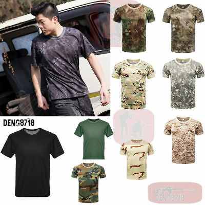 2018 Airsoft Outdoor Men's Tactical T-shirt Military Quick Drying Short Sleeve
