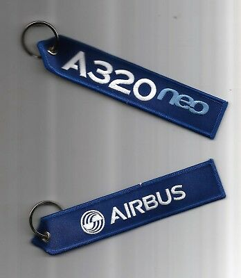 PORTE CLE FLAMME AIRBUS A320neo - NEUF
