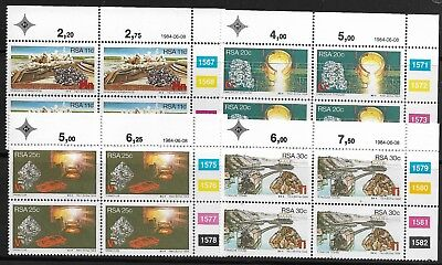 South Africa MNH 1984 Control Blocks Minerals - Bargain!