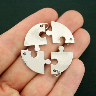 "14mm Tibetan Silver /""Just for you /"" Stars Charms Friendship i118 15 Pcs"