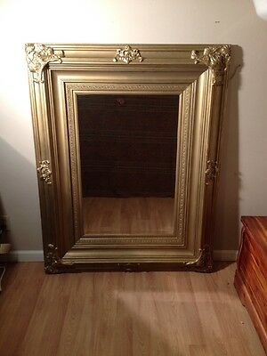 Vintage French ANTIQUE GOLD GILT Framed MIRROR  Extra Large FRAME