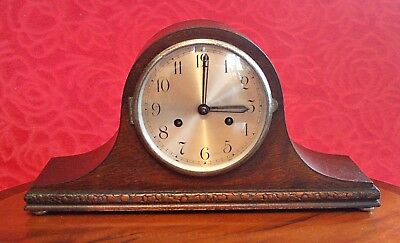Vintage English 'Coronet' 14-Day Striking Mantel Clock