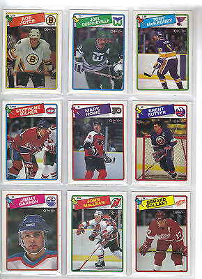 Lot of 20 Different 1988-89 OPC O-Pee-Chee Cards *U-Pick* Complete Your Set