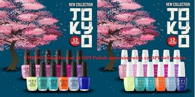 Brand New OPI Tokyo Collection Spring 2019 Gel Color + Nail Lacquer Set of 24