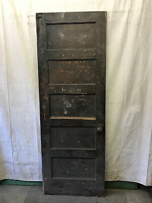 SIngle Rised 5 Panel Wood Door Reclaimed Antique 30x83-1/2