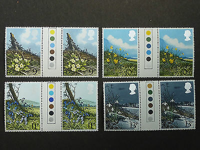 644a] - GB STAMPS - 1979 - SPRING WILD FLOWERS - GUTTER PAIRS + TRAFFIC LIGHTS
