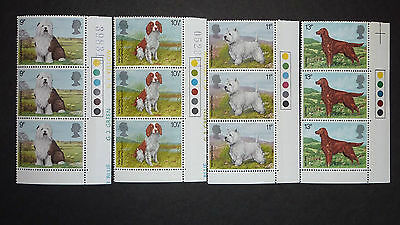 021] - Gb Stamps - 1978 Dogs - Triple Corner Set With Side Traffic Lights - Mnh
