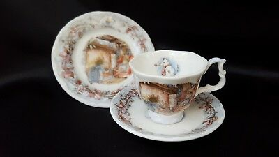 Miniature Brambly Hedge Winter Cup Saucer & Plate Royal Doulton Miniature Trio