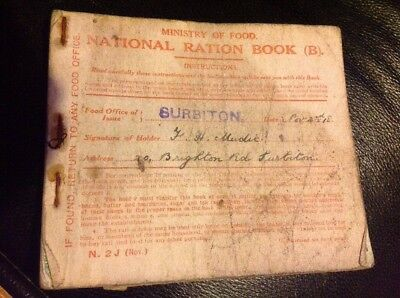 Other Historical Memorabilia Collectibles Ww1 Ministry Of Food National Ration Book 1918 Great Britain