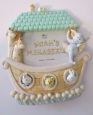 """Fabulous NEW Noah's Menagerie Baby Picture Frame  - Holds 3"""" x 3 1/2"""" Photo"""