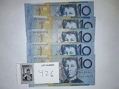 Australia 10 Dollar Bill- One Note, great condition