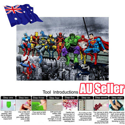 Cartoon Super Hero Full Drill 5D Diamond Painting Embroidery Cross Stitch ON