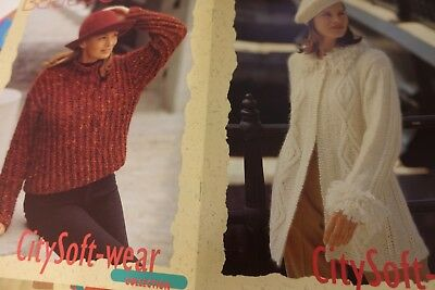Berroco Souffle #310 Knitting Pattern Book Women Sweaters LegWarmers Accessories