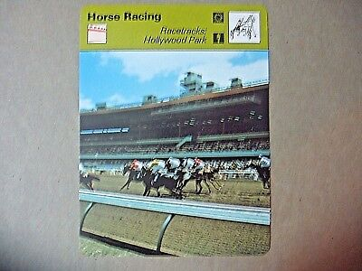 Belmont Park Racetrack Long Island New York Horse Racing Sportscaster Card