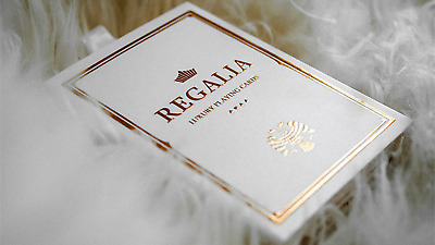 four packets of Regalia White Playing Cards by Shin Lim
