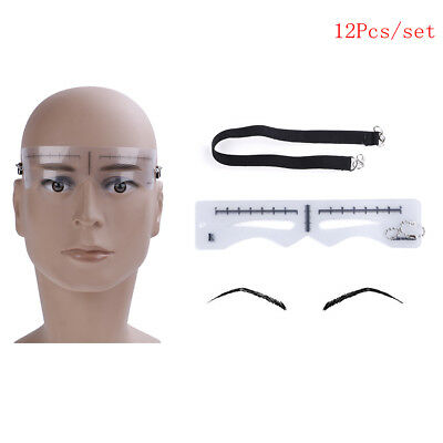 Eyebrow ruler stickers stencil shaper microblading permanent makeup supplies FT