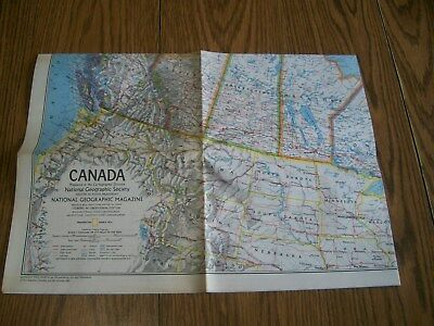 national geographic magazine map of canada 1972 & ice age mammals of the tundra