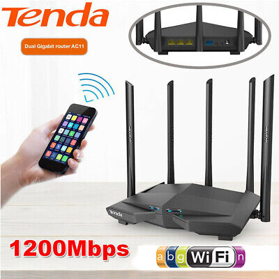 Tenda AC11 1200Mbps Dual Band Smart WiFi Wireless Router Repeater APP Control