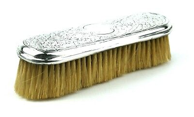 Antique Edwardian Sterling Silver Clothes Brush Floral Flowers London 1907