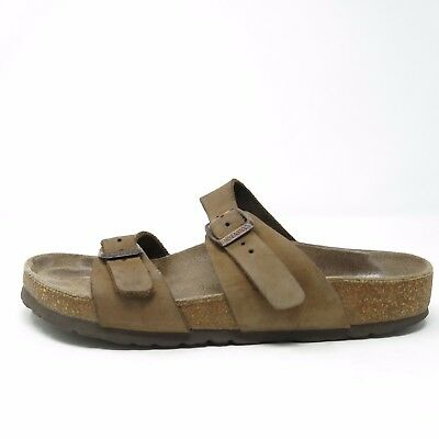 0a64a6c52547 BIRKENSTOCK Brown Leather Double Strap SANDALS Shoe Sz EUR 37 L 6