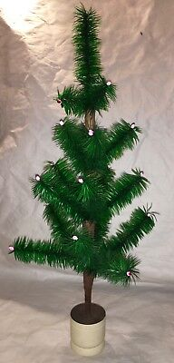 """20"""" Green Feather Tree With Wood Base"""