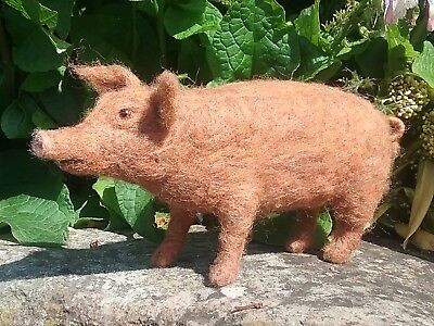 Pig Needle Felt Kit British Rare Breed Wool