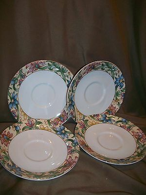 5 Royal Doulton Everyday Jacobean Saucers 1996
