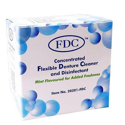 Flexible Denture Cleaner FDC,  1 Box of 12 Sachets 3 Months Valplast Cleaning UK