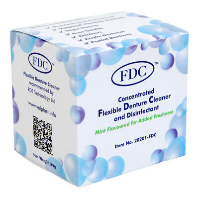 FDC Concentrated Flexible Denture Cleaner, Disinfectant Mint Flavoured (Unboxed)