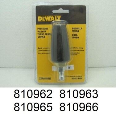 **NEW** DeWALT DXPA45TN Pressure Washer Turbo Spray Nozzle – Rated 4500 PSI