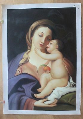 CHENPAT277 big art 100% hand-painted mother&son home art oil painting on  canvas