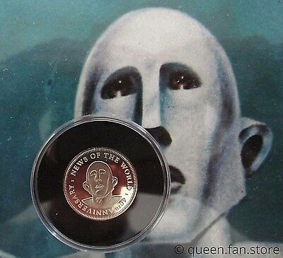 QUEEN : Brian May 2017 News Of The World Sixpence Coin Guitar Pick Plectrum