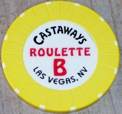 Roulette Chip (Y)  From The Castaways Casino Las Vegas Nv