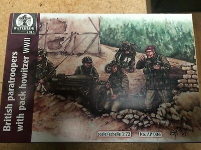 British paratroopers with pack howitzer WWII 1:72 Waterloo 1815