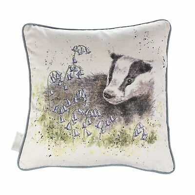 The Country Set Badger Feather Cushion – 40cm Diameter The Bluebell Wood Cushion