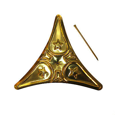 Dust Corner For Stairs Polished Brass Decorative Star Design