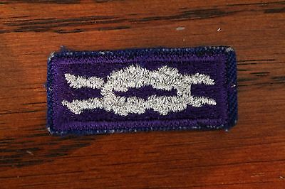 BSA YOUTH RELIGIOUS AWARD KNOT PATCH (Purple Silver) - BOY / CUB SCOUT