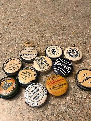 Advertising Celluloid Tape Measures  Lot Of 11