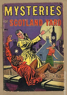 Mysteries of Scotland Yard #1 1954 FR/GD 1.5