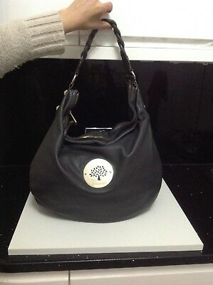 GENUINE LARGE MULBERRY Daria Hobo Bag In Charcoal grey Leather. VGC ... 2027e7398bb1b