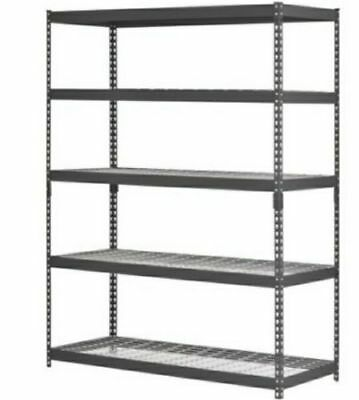 Heavy Duty 5 Shelf Steel Wire Rack 48 x 24 x 78 Garage Shelving Shop Storage