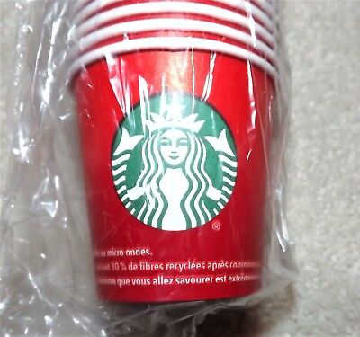 NEW Starbucks 4oz. Red Sample Paper Cups (50 Cups)